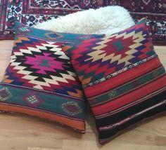 Image of Turkish Kilim Floor Pillows