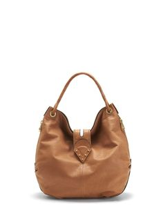 Venezia leather hobo in cognac