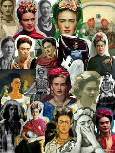 Frida Kahlo Collage Poster by americanpatriot Diego Rivera Frida Kahlo, Kahlo Paintings, Frida Art, Feminist Art, I Icon, Pictures To Paint, Portraits, Chicano Art, Cute Wallpapers