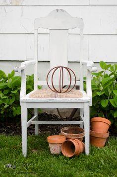 Burlap Chair Seat Makeover | Sew a Fine Seam