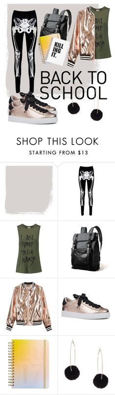 """Back to School Edition 01"" by raoed ❤ liked on Polyvore featuring Boohoo, Haute Hippie, Sans Souci, Nine West, ban.do and Humble Chic"