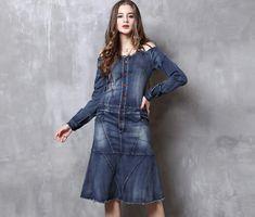 Rochia de blugi este un must-have. Kalimeramark.ro este o stare de bine. Fii deosebita, indrazneste! #rochii #rochiidenim Fii, Jeans, Denim, Jackets, Fashion, Everything, Down Jackets, Moda, Fashion Styles
