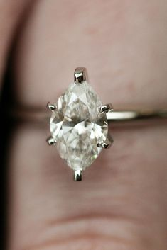 The marquise cut is perfect for a non traditional engagement ring. Keep it simple with a solitaire setting!