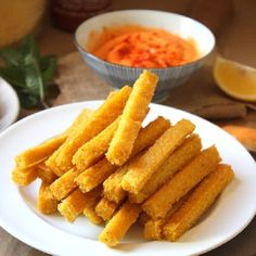 Cheezy Baked Polenta Fries! A simple way to use up that polenta in the ...