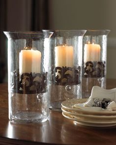 Glass Candleholders by GG Collection at Horchow.