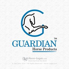 Custom horse logo design created by Horse-Logos.com for Mark Mulholland of Guardian Horse Products in Australia  #equine #equestrian #horse #brand #branding #logo #design