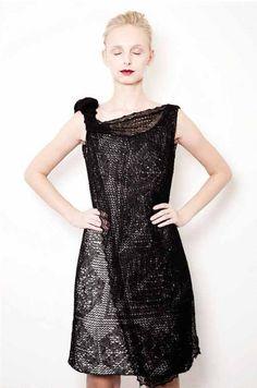 deconstructed linen dress