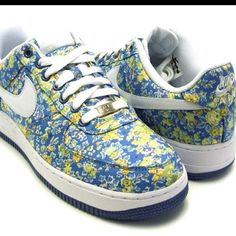 huge discount 8f9ec 2287a Nike x Liberty air force 1 s low tops in white blue peony  ) Air