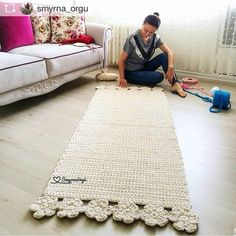 413 likes 12 comments Crochet With Trapillo Hand Woven pinned 4 inspiration id do This Pin was discovered by Lup Crochet Doily Rug, Crochet Carpet, Knit Crochet, Crochet Patterns, Rope Rug, Crochet Home Decor, Handmade Rugs, Rugs On Carpet, Baby Knitting