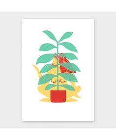 'Liana' by Lucy Ketchin Archipelago, Plant Leaves, Illustration, Prints, Art, Craft Art, Kunst, Illustrations