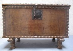 18th Century Spanish Colonial Sabino Trunk | From a unique collection of antique and modern blanket chests at https://www.1stdibs.com/furniture/storage-case-pieces/blanket-chests/