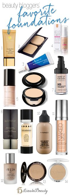 Beauty Bloggers and Their Favorite Foundations plus tons of great foundation reviews