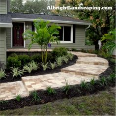Marvelous Freshen Up Your Entry With A Paver Walk, Low Plants And New Mulch. Albright  Landscaping · Front Entry Landscapes