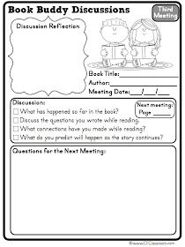Clutter-Free Classroom: Tips for Managing Book Buddies: Book Clubs and Reading Partnerships in the Classroom {printables, Literature Circles, Text-Based Discussion}Common Core Reading}
