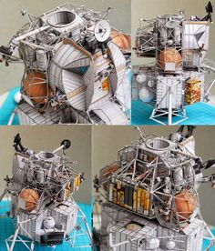 Apollo 13 Lunar Module Aquarius Papercraft http://uhu02.way-nifty.com/die_eule_der_minerva/2014/04/041-apollo13-lm.html