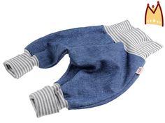 Jeans-Pumphose+*Ringel+grau-weiss*++von+bySaM+-+so+einzigartig+wie+Ihr+Kind+auf+DaWanda.com