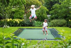 Here is an actual trampoline I would feel comfortable with safety wise. This is fun/awesome!
