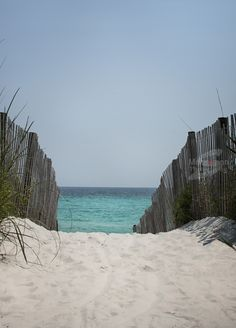 Beach in Seaside Florida. Location of the movie The Truman Show with Jim Carrey