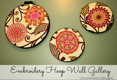 Need to do this for one of our rooms. embroidery hoop wall gallery
