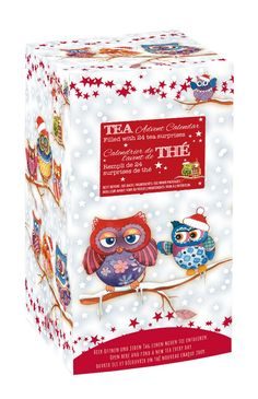 WINTER OWL ADVENT CALENDER 24 DIFFERENT TEAS TO COUNT DOWN TO CHRISTMAS