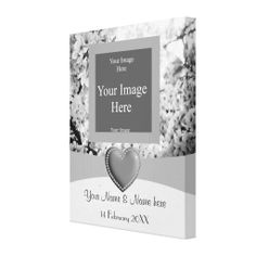 Photo Template - Spring Blooms Gallery Wrapped Canvas