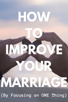 How to Improve Your Marriage - Discover unique ideas tips and ways to improve your marriage by focusing on ONE Thing. Because focusing on ONE Thing will quickly transform every area of your relationship (communication sex trust boundaries intimacy f Happy Marriage, Marriage Advice, Love And Marriage, Communication Relationship, Funny Relationship, Relationship Building, Relationships, Christian Marriage, Proverbs 31