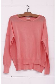 Jersey hombreras canalé, Jersey amplio, maxi jersey, rosa, pink, punto, maxi sweater, jumper, pink colour, System Action, shop online, lookbook, model, street Style,