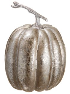 Artificial Glittered Metallic Pumpkin Decoration in Silver Find fall wedding decorations like this artificial glittered pumpkin decoration in silver with a metallic finish. This metallic silver pumpkin is perfect to add some rustic glam to your DIY fall settings and autumn home decor! #afloral