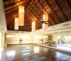 open concept Yoga Studio - doors open to fresh air #yoga I just want to live here.