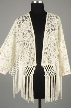 Kimono med fransar