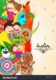 Beautiful Vector Illustration of Indian background on grungy background on the occassion of Republic Day. Onam Wishes Images, Onam Images, Independence Day Drawing, Independence Day India, Diversity Poster, Unity In Diversity, Doodle Art Drawing, Mandala Drawing, Indian Flag Images