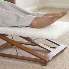 Comfort Footstool - Tri Relax Footrest by Ability Answers, http://www.amazon.co.uk/dp/B007BLXXNW/ref=cm_sw_r_pi_dp_S37Irb063AJSY