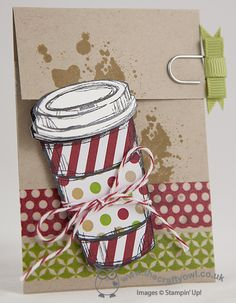 The Crafty Owl's Blog | Perfect Blend Coffee Cup Card and Gift Card Holder