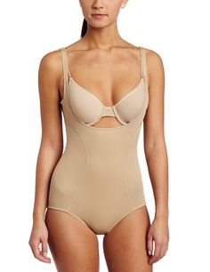 f0228ee2b142b Maidenform Flexees Women s Ultimate Slimmer Wear Your Own Bra Body Briefer  at Amazon Women s Clothing store