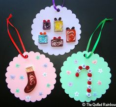 Quilled Tags  Christmas Gift Tags/Ornaments by TheQuilledRainbow