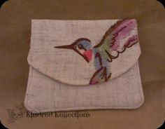 SALE 20 OFF    Hummingbird Embroidered by KindredKollections, $9.60