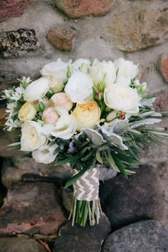 Beautiful bouquet: http://www.stylemepretty.com/california-weddings/calistoga/2015/05/13/elegant-outdoor-calistoga-ranch-wedding/ | Photography: Jenna Marie - http://jennamariephoto.com/