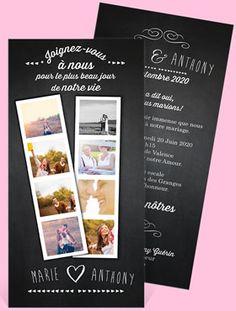 faire part mariage vintage qui mettra en valeur les photos de votre couple sur un - Faire Part Photomaton Mariage