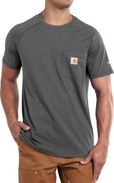 9fc456fafa94 Carhartt Men s Force Cotton Delmont Short Sleeve T-Shirt