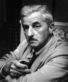 """William Faulkner sat for this portrait June The occasion was the premiere of the motion picture, """"Land of the Pharaohs"""" at a Memphis theater. Faulkner wrote the script for the movie. Photo by Charles Nicholas. Writers And Poets, Writers Write, William Faulkner, William Clark, Book Writer, Book Authors, American Literature, Nobel Prize, Playwright"""