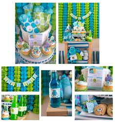 monsters inc birthday theme | Printable Monsters Inc. Inspired Baby Shower PARTY PACKAGE-DIY Monster Inc Party, Its A Boy Banner, Baby Shower Party Supplies, Baby Shower Parties, Baby Shower Themes, Baby Boy Shower, Diaper Shower, Shower Ideas, Party Package