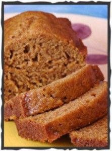 pumpkin bread - a healthier version of pumpkin bread with Agave Nectar and Egg whites, I also changed the oil to applesauce!