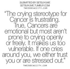 Cancer crying stereotype