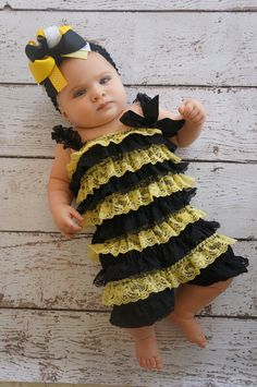 Bumble bee costume Toddler baby costume Bee by PoshPeanutKids