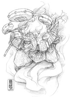 24hr sketch 127: raijin by fydbac.deviantart.com on @deviantART