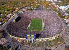 """Michigan Stadium - """"The Big House"""" - location: Ann Arbor MI http://visitannarbor.org"""