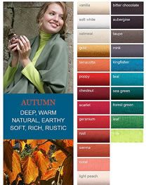 Autumn from Kettlewell Deep Autumn Color Palette, Colour Pallette, Color Combos, Color Schemes, Soft Autumn Deep, Dark Autumn, Skin Undertones, Warm Undertone, What Colours Suit Me