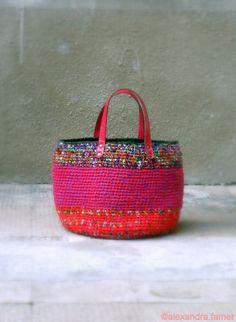 Handmade tote bag Casual giant purse crochet by AlexandraFamer, €180.00