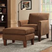 Found it at Wayfair - Warner Microfiber Arm Chair & Ottoman