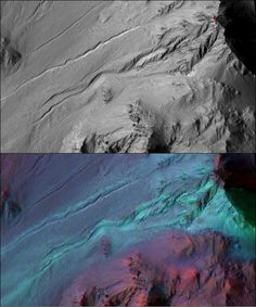 Mars Gullies Were Probably Not Made By Flowing Water, NASA Says 7/30/16  According to a new study based on data by NASA's Mars Reconnaissance Orbiter, the trenches were likely formed by the seasonal freezing and sublimation of carbon dioxide